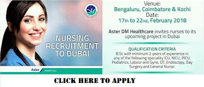 NURSING RECRUITMENT TO DUBAI