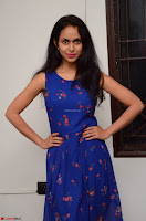 Pallavi Dora Actress in Sleeveless Blue Short dress at Prema Entha Madhuram Priyuraalu Antha Katinam teaser launch 049.jpg
