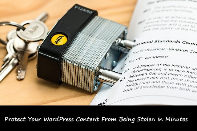 how to protect WordPress content from being copied