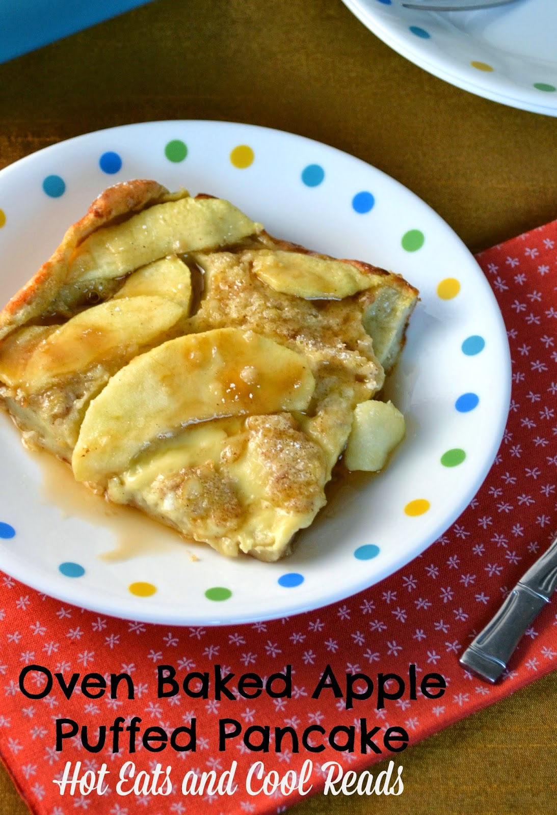 This sweet, oven baked breakfast is delicious served with sausage or bacon. Great for brunch or even dinner! Oven Baked Apple Puffed Pancake Recipe and a Review for My Tiny Alaskan Oven Cookbook