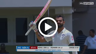 Virat Kohli 200 runs vs west indies in 1st test