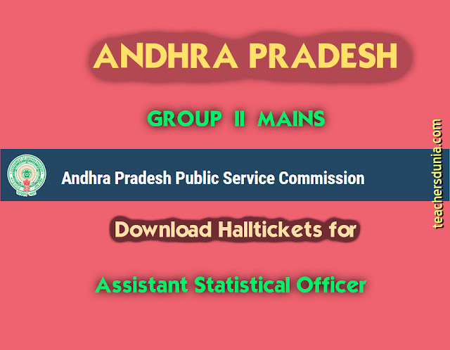 APPSC-Group-2-Assistant-Statistical-Officer-Mains-Halltickets
