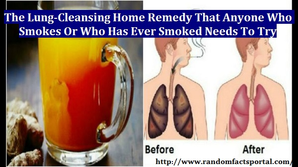 The Lung-Cleansing Home Remedy That Anyone Who Smokes or Who Has Ever Smoked Needs To Try