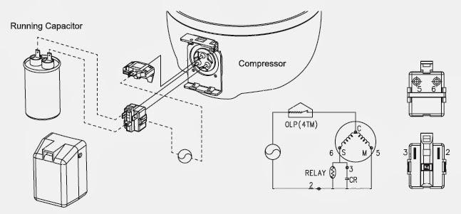 wiring diagram relay 7 pin small round trailer plug refrigerator compressor auto electrical
