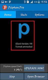 Psiphon Pro Terhubung
