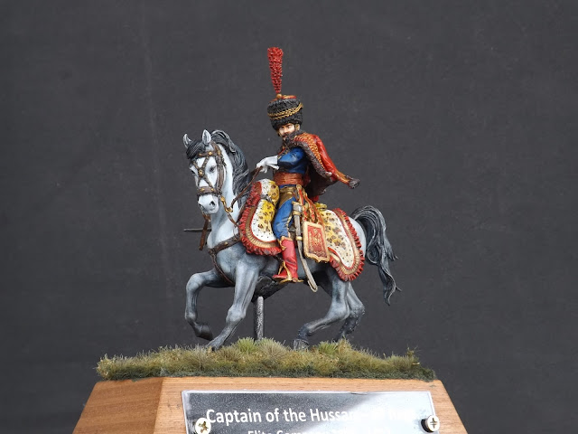 Captain of the Hussars, Elite Company 1806 - 1812 - Pegaso Miniatures 75mm 012