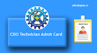 CSIO Technician Admit Card