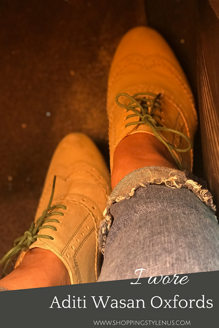 What I DId This Weekend? I wore Aditi Wasan Suede Oxfords