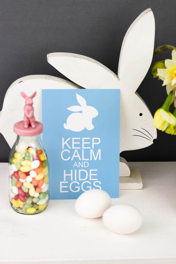 Gratis Download: Osterkarte keep calm and hide eggs