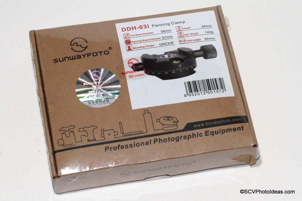 Sunwayfoto DDH-03i Panning Clamp box