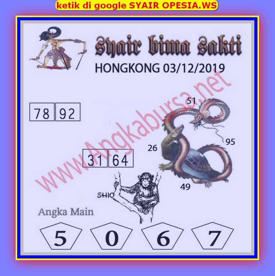 Kode syair Hongkong Selasa 3 Desember 2019 45