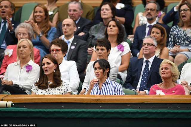 Księżna Kate i Księżna Meghan na Wimbledonie