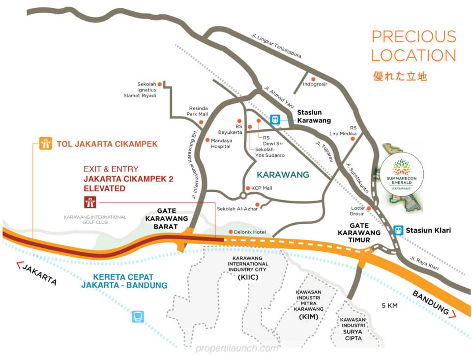 Peta lokasi Summarecon Emerland Karawang