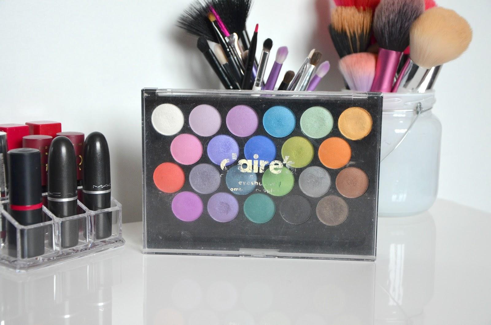 Claire's makeup palette