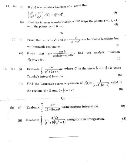 MA6251 Mathematics II Nov Dec 2014 Question Paper