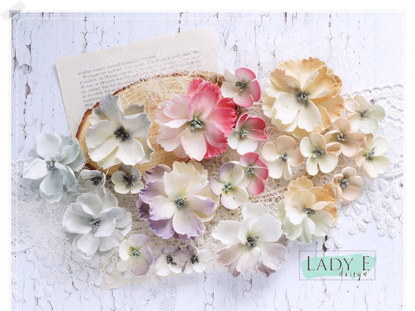 Foamiran Flowers in Vintage Colors