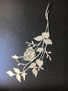 影織のバラの切り絵