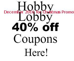 Hobby Lobby coupons december