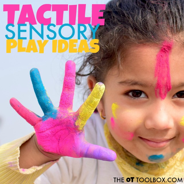 Tactile sensory awareness can happen through play and learning!