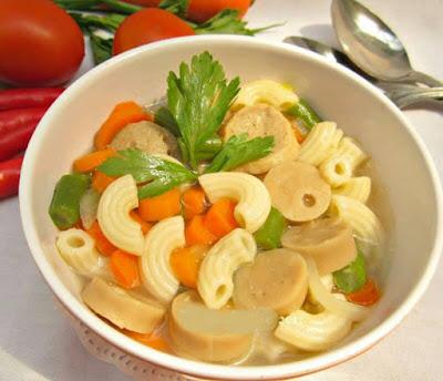 Resep Sup Makaroni Sosis Daging Empuk dan Segar resep sup makroni sosis paling enak dan mudah resep sup makroni sosis daging ayam spesial resep membuat sup makroni sosis daging ayam cara membuat sup makroni sosis daging ayam
