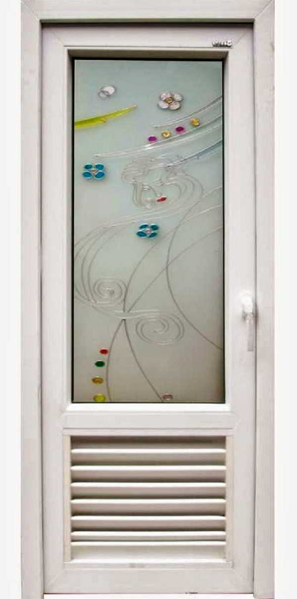 Contoh Model Desain Pintu Kamar Mandi dari Kayu dan Kaca