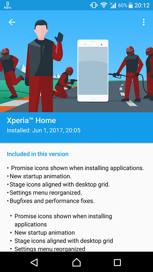 Xperia Home 10.2.A.3.20beta