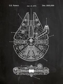 Starwars - blueprint Faucon Millenium