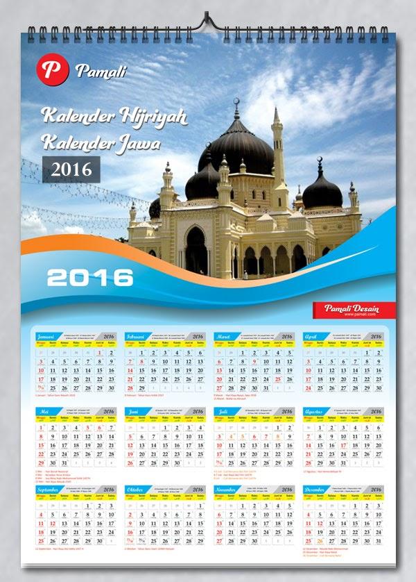 Download Desain Kalender 2016 & Tanggalan Hijriyah ...