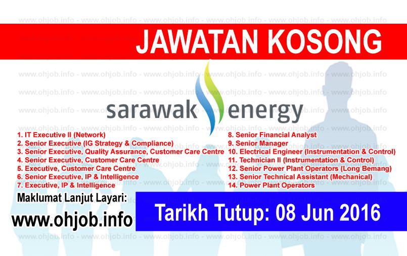 Jawatan Kerja Kosong Sarawak Energy logo www.ohjob.info jun 2016