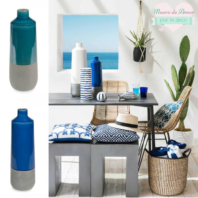 Jarrones Azules para Decorar tu Casa-Maisons Du Monde-By Ana Oval-2