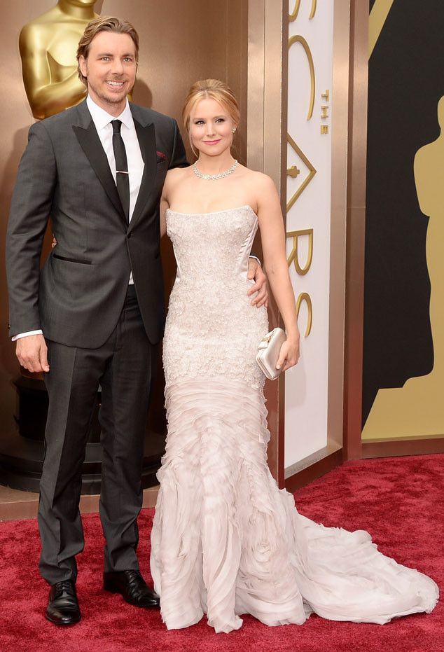 Dax Shepard & Kristen Bell in a Roberto Cavalli gown at the Oscars 2014