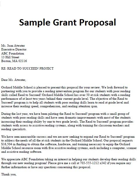 cover letter for grant writer resume