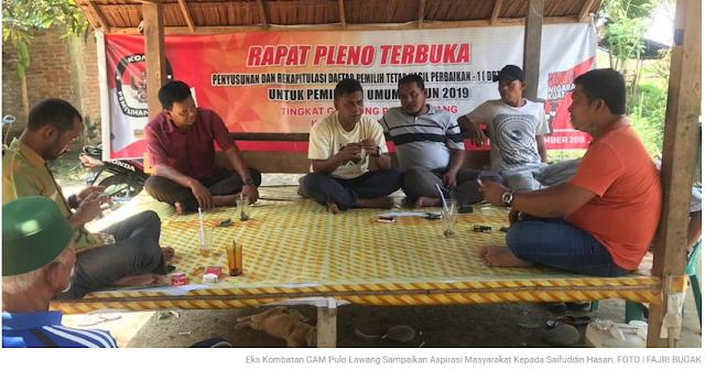 Eks Kombatan GAM Pulo Lawang Sampaikan Aspirasi Masyarakat Kepada Saifuddin Hasan