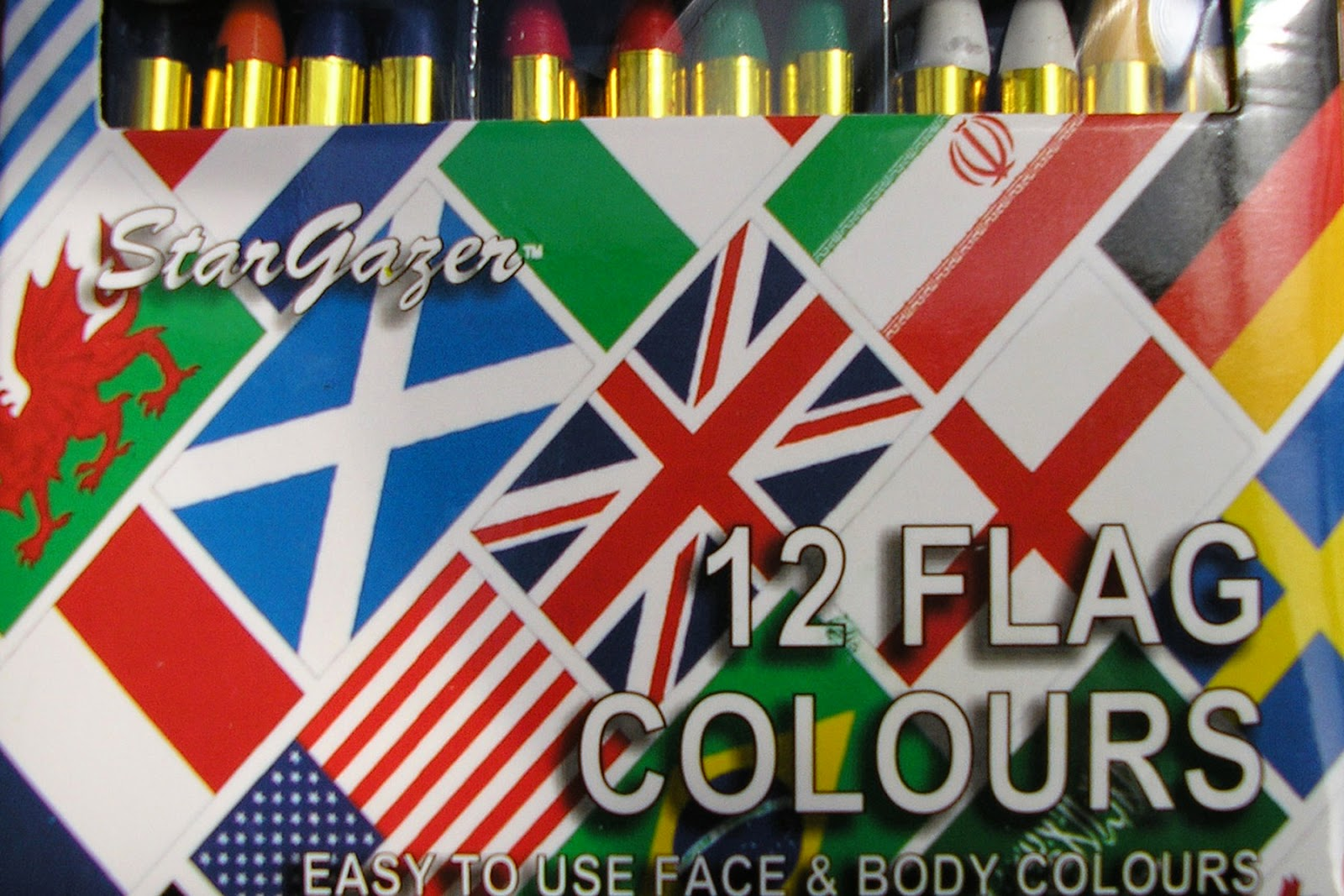 Flag Face Paints for Eurovision