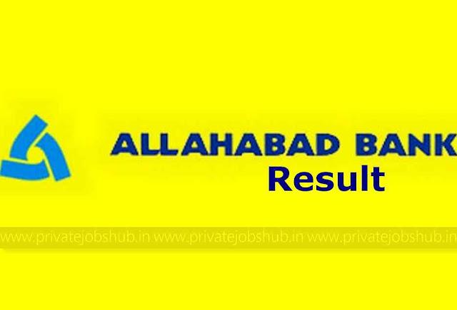 Allahabad Bank Result