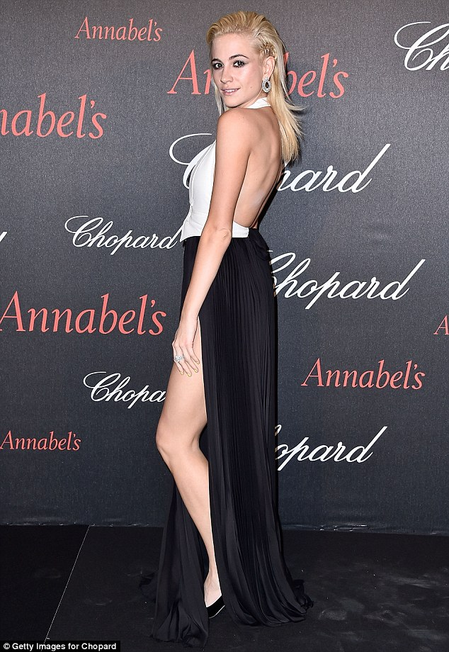 Pixie Lott and Oliver Cheshire headed-up the celebrities at Annabel's Cannes Party on Saturday night