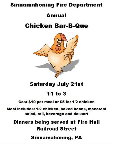 7-21 SVFD Annual Chicken BBQ