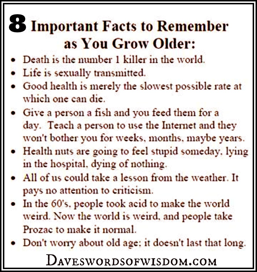 「8 important facts to remember as you grow older」的圖片搜尋結果
