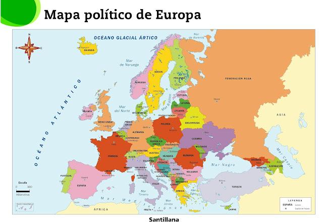 Resultado de imagen de mapa politico de europa 3º eso