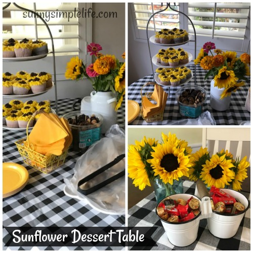 sunflower dessert table