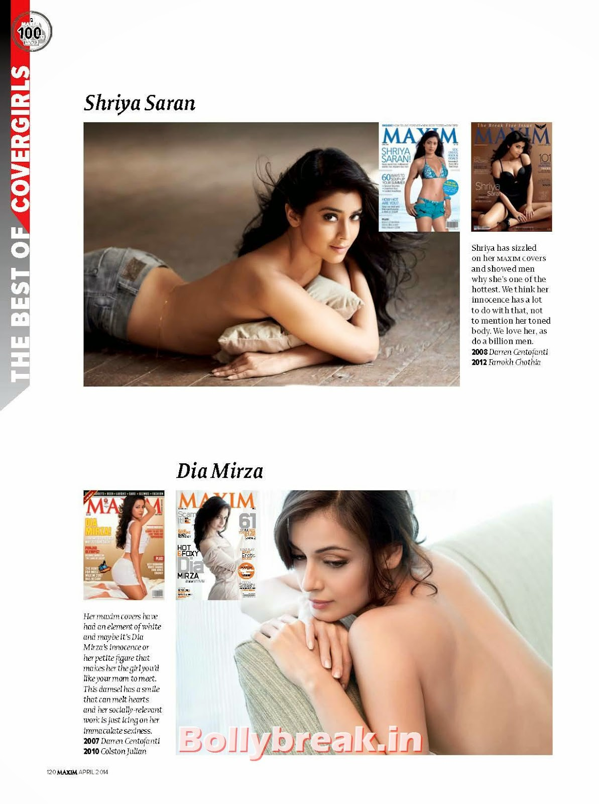, Pics of Maxim India Magazine Cover Girls - 100th Issue