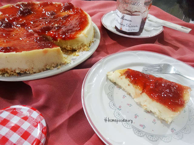 Creamy Cheese Custard Cake || homefoodstory.blogspot.com