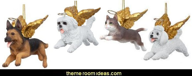 Angelic Dog and Cat Christmas Ornaments  pet gift ideas - gifts for pets - gifts for dogs - gifts for cats - creative gifts for animal lovers‎ - gifts for pet owners pet stuff - cool stuff to buy - pet supplies - pet cookie jars - dog throw pillows - dog themed bedding - cat throw pillows - paw pillows - gifts for cat loving friends - gifts for dog loving friends