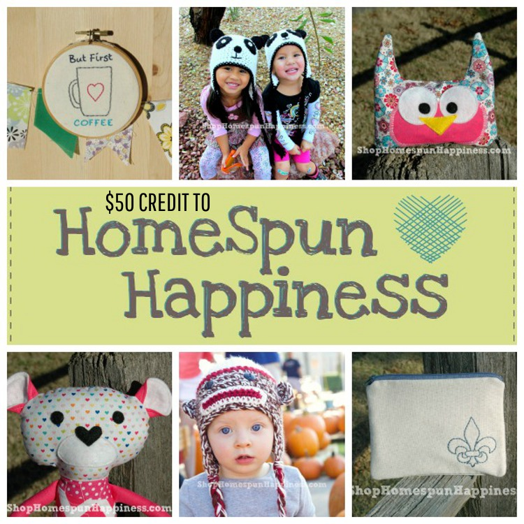 $50 credit to HomeSpun Happiness on Style of Colours