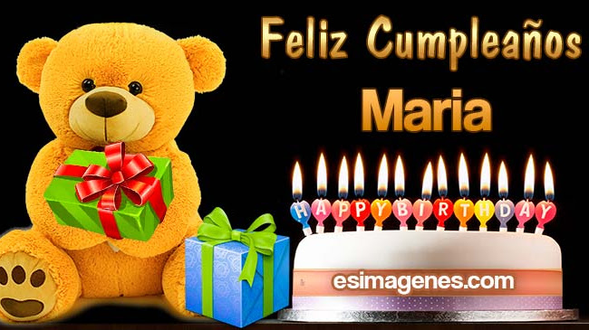 Feliz Cumpleaños Maria