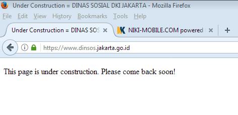 Kali Ini Giliran Situs www.dinsos.jakarta.go.id Yang Diserang Hacker