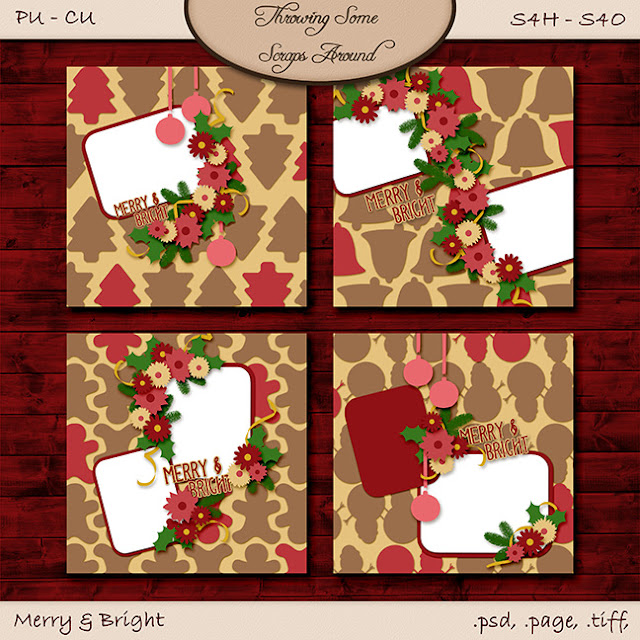 December A Love For Layout Templates Blog & FB Train!