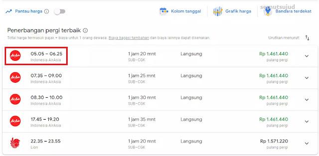 Tips Mencari Tiket Pesawat Termurah Dengan Google Flights-4