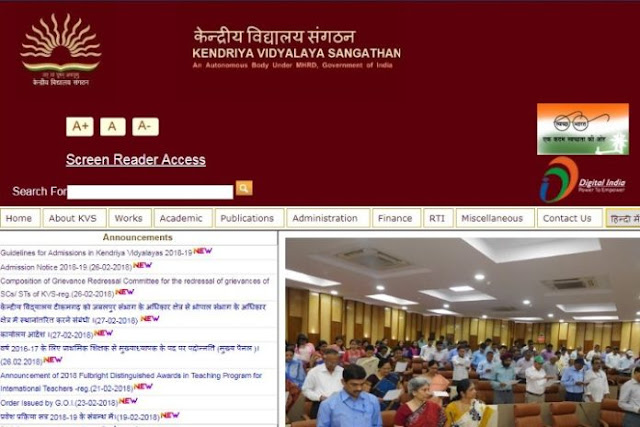 Kendriya Vidyalaya admissions 2018-2019 notification