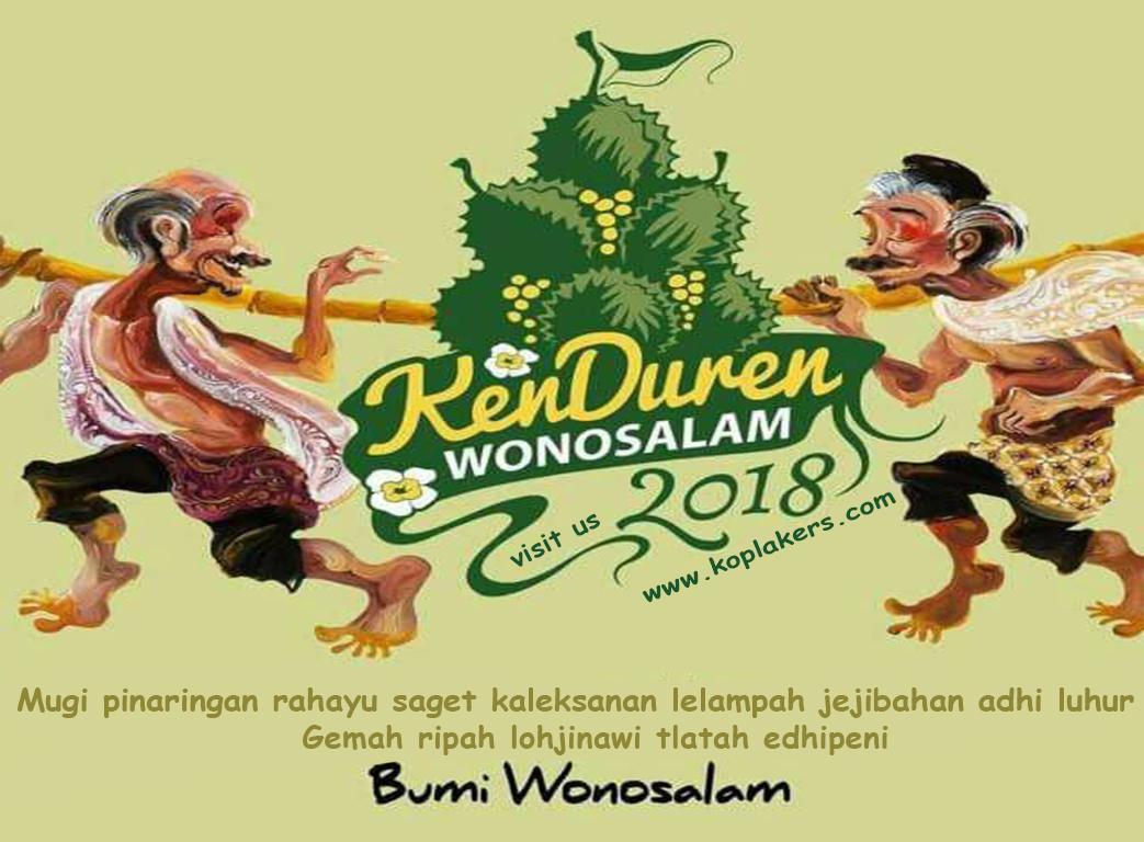 jadwal acara kenduri duren kenduren wonosalam jombang 2018